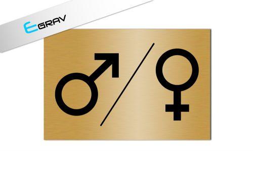 Signalétique Picto Wc Symbole Hommefemme 12x6 Cm Livraison Gratuite
