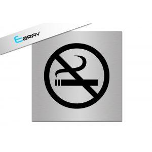 Signalétique Interdiction fumer 10 Cm * 10 Cm modèle Alu