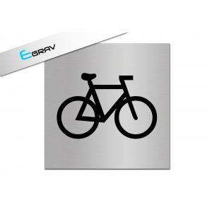Signalétique Local à vélos 10 Cm * 10 Cm modèle Alu