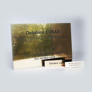 Pack plaque pro 30x20 cm / plaque de boîte aux lettres / plaque porte