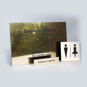 Pack plaque pro 30x20 cm / plaque porte / plaque WC mixte