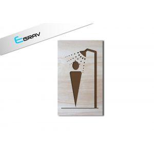 Plaque douche en bois 50 mm par 100 mm