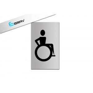 Signalétique Picto WC Handicapé 6 Cm * 10 Cm