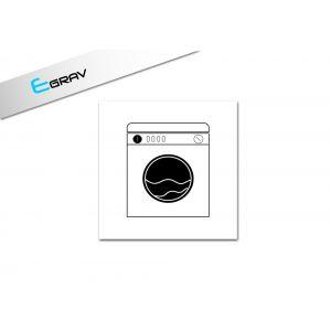 Signalétique machine à laver 15 Cm * 15 Cm
