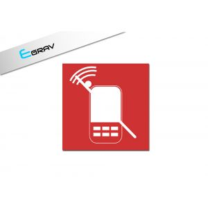 Signalétique PortableInterdit 15 Cm * 15 Cm