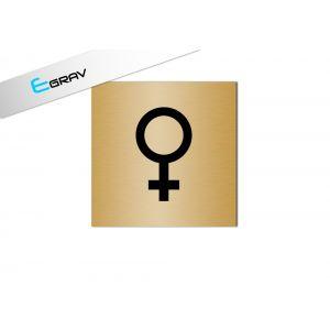 Signalétique Picto WC Symbole Femme  8 x 8 cm