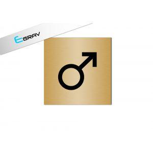 Signalétique Picto WC Symbole Homme 8 x 8 cm