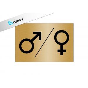 Signalétique Picto WC Symbole Homme / Femme 12 x 8 cm
