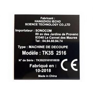 Plaque constructeur et d'identification 70mm x 40 mm