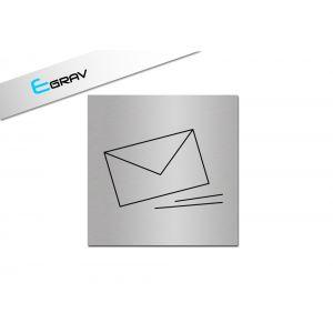Signalétique courrier 10 Cm * 10 Cm, modèle Alu