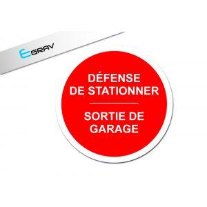Signalétique défense de stationner ronde 20cm x 20 cm