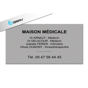Image Plaque Professionnelle Métal 50 Cm* 30 Cm