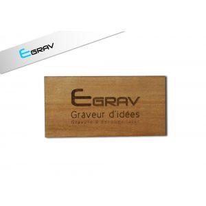 plaque professionnelle bois 200 mm par 150 mm