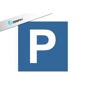Signalétique parking privé carré 20cm x 20cm