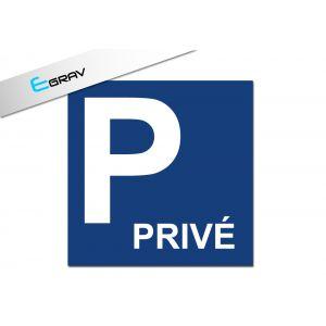 Signalétique Parking Privé 20 Cm * 20 Cm