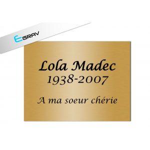 Plaque du souvenir 200x150mm