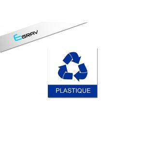 Signalétique recyclage Plastique 10 Cm * 10 Cm