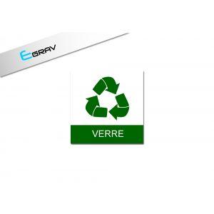 Signalétique recyclage Verre 10 Cm * 10 Cm