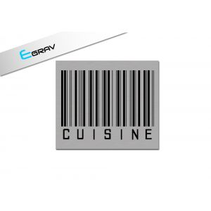 Plaque deco code barre