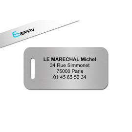 Etiquette badge de bagage 60x30mm