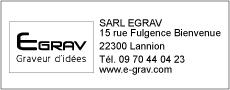 Empreinte tampons 4913 avec logo