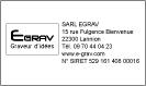 Empreinte tampons 5206 avec logo